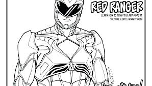 Red Power Ranger Coloring Pages Power Rangers Ninja Storm Coloring