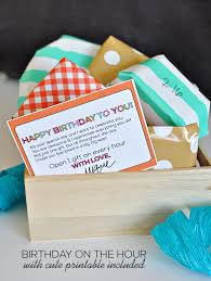 spoil your loved one with celebrating their birthday throughout the day open a gift every