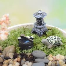 Mini Fantasy Miniatures Garden Terrarium Decoration Cute Turtle Figurines  House DIY Micro Landscape Resin Figurine Ornament