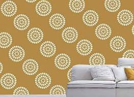 Painting Designs On Walls Gallerist Reusable Diy Wall Stencil Painting For Home Decor Doted Circle Design Stencil 1 Stencil Size 12x12 Inches Free 1 Drawing Stencil For