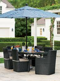 outdoor furniture crate and barrel. Minimalist Backyard Design With Calistoga Outdoor Resin Dining Sets, Black Chair, Furniture Crate And Barrel