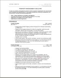 Gallery Of Property Manager Resume Example Real Estate Resume Sample