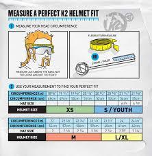 K2 Helmets Size Chart Christy Sports