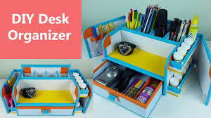 a stylish and compact diy desk organizer drawer organizer out of cardboard