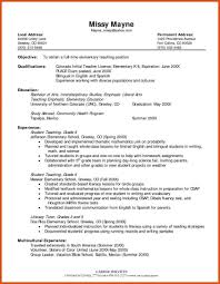 Preschool Teacher Resume Objective Examples Teaching Resume Objective Examples Examples Of Resumes 14