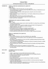 Resume Template Executive Assistant Resume Example Medical Assistant Awesome Medical
