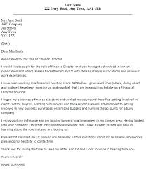 Director Cover Letter Finance Director Cover Letter Example Icover Org Uk