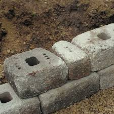 how to install landscape wall blocks