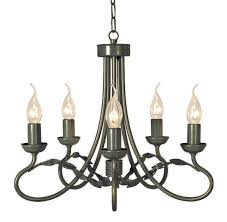 olivia black gold 5 light chandelier elstead lighting