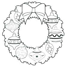 Ornament Coloring Page Printable Advent Wreath Coloring Page Pages