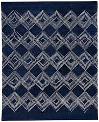 feizy rugs adorable rug with small square motive on blue base color