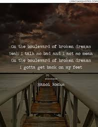 Boulevard Of Broken Dreams Quotes Best of Hanoi Rocks Boulevard Of Broken Dreams On The Boulevard Of Broken