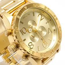 mens nixon watches chrono new nixon watch mens 51 30 chrono all gold a083 502 a083502