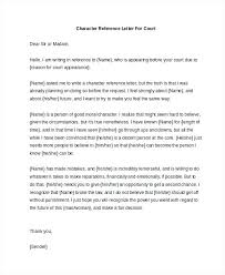 Student Character Reference Letter Example Letters Of Character Reference For Court Sample