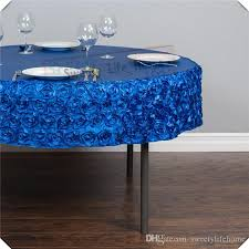 royal blue satin rosette table cloths table cover 108inch diameter round tablecloth spandex tablecloth for party event vinyl tablecloths plastic tablecloth