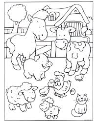Explore Farm Animal Coloring Pages And