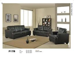com 3 pcs black classic leather sofa loveseat and chair set kitchen dining