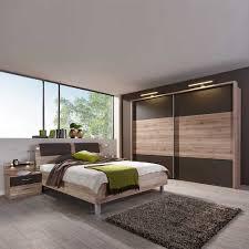 Schlafzimmer Set Monzara Mit Schwebetürenschrank Und Beleuchtung 4 Teilig