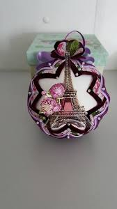 1370 best Quilted Ornament Ideas images on Pinterest   Christmas ... & Eiffel tower quilted ball/ Tour Eiffel quilted ornamnet/Vintage Quilting  Ornament/no sew fabric Spring ornament ball by AngelsHandmadeCrafts on Etsy Adamdwight.com