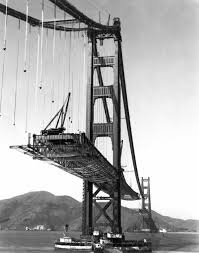 Image result for construction begins on the Golden Gate Bridge, map