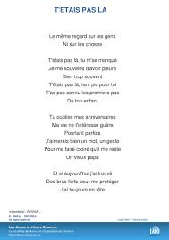 Paroles Et Musique De T Etais Pas La Renaud - Lalo.pro