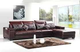 l shape leather sofa spacious living room interior design with brown l shaped leather sofa furniture