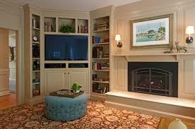 corner tv cozy family room