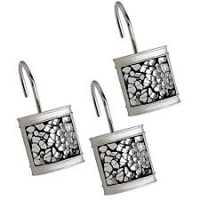 silver glitter bathroom accessories. creative scents shower curtain hooks - set of 12 rings for bathroom rod 100% rust proof- brushed nickel collection (silver) silver glitter accessories