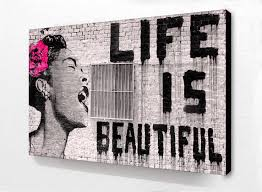 blockmounted life is beautiful maxi poster camden town poster  blockmounted life is beautiful maxi poster