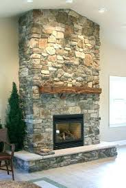 faux rock fireplace makeover dry stacked stone design by stack ideas