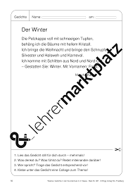 Gedichte In Der Grundschule Anregungen Für Die Praxis In Der 3 Und