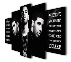 Amazoncom Susu Art 5 Pcs Rapper Drake Quotes No Matter Canvas