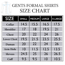 Men S Wearhouse Size Chart Mens Formal Shirts Size Chart Rldm