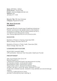 Nurse Graduate Cover Letter Cover Letter For New Graduate Nurse