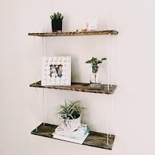 Reclaimed Wood 3 Tiered Hanging Shelf