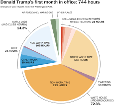 Office Pie Chart How Trump Spent His First Month In Office By The Numbers