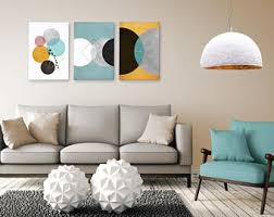 modern wall art abstract living room bedroom print set circle mint pink minimalist print canvas contemporary bedroom art l57 bedroom