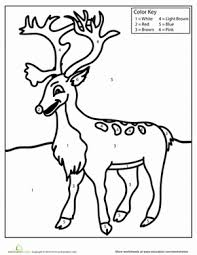 Free holiday coloring sheets i love christmas. Christmas Color By Number Worksheets Education Com