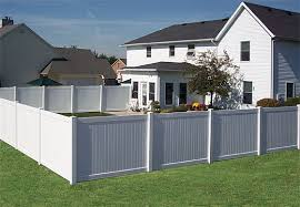 Vinyl Privacy Fence Ideas White Intended Design