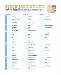 Vacation Packing Checklist Pdf Travel Packing Checklist Template Trip Field Printable Listpdf