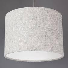 light grey harris tweed lampshade