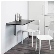 Stupendous Small Space Home Design Bjursta Wall Mounted Drop Leaf Table Ikea  Within Ikea Wall Mounted