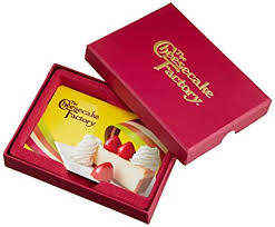 the cheesecake factory 50 gift card in a gift box
