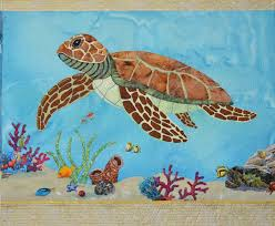 Coral reef and Sea Turtle applique pattern &  Adamdwight.com