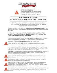 Calibration Guide Comet 102c Hiperf Com Pages 1 14
