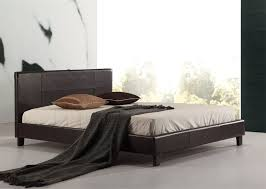low queen bed frame. Beautiful Bed Queen PU Leather Bed Frame Brown In Low E