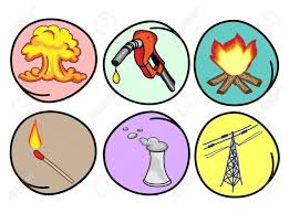 Cartoon Illustration Of The Different Types Of Energy Heat