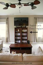 tv entertainment center with fireplace. diy faux fireplace entertainment center: part one tv center with