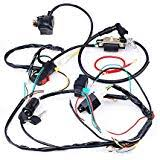 amazon com 1z 125cc lifan engine wiring harness chinese pit dirt cisno complete electrics cdi coil wiring loom harness kick for 50cc 110cc 125cc atv dirt bike