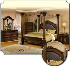 Metal Bedroom Furniture Set Poster Bedroom Furniture Set With Leather Headboard Metal Canopy 103